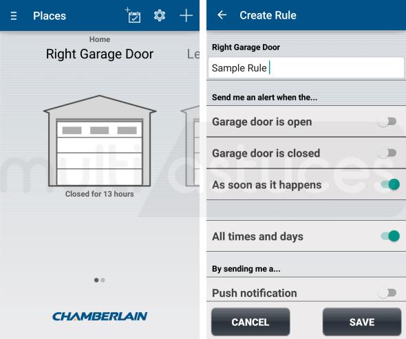 meilleures applications Android d'ouvre-porte de garage