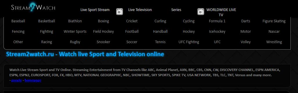 Meilleurs sites de streaming de sports