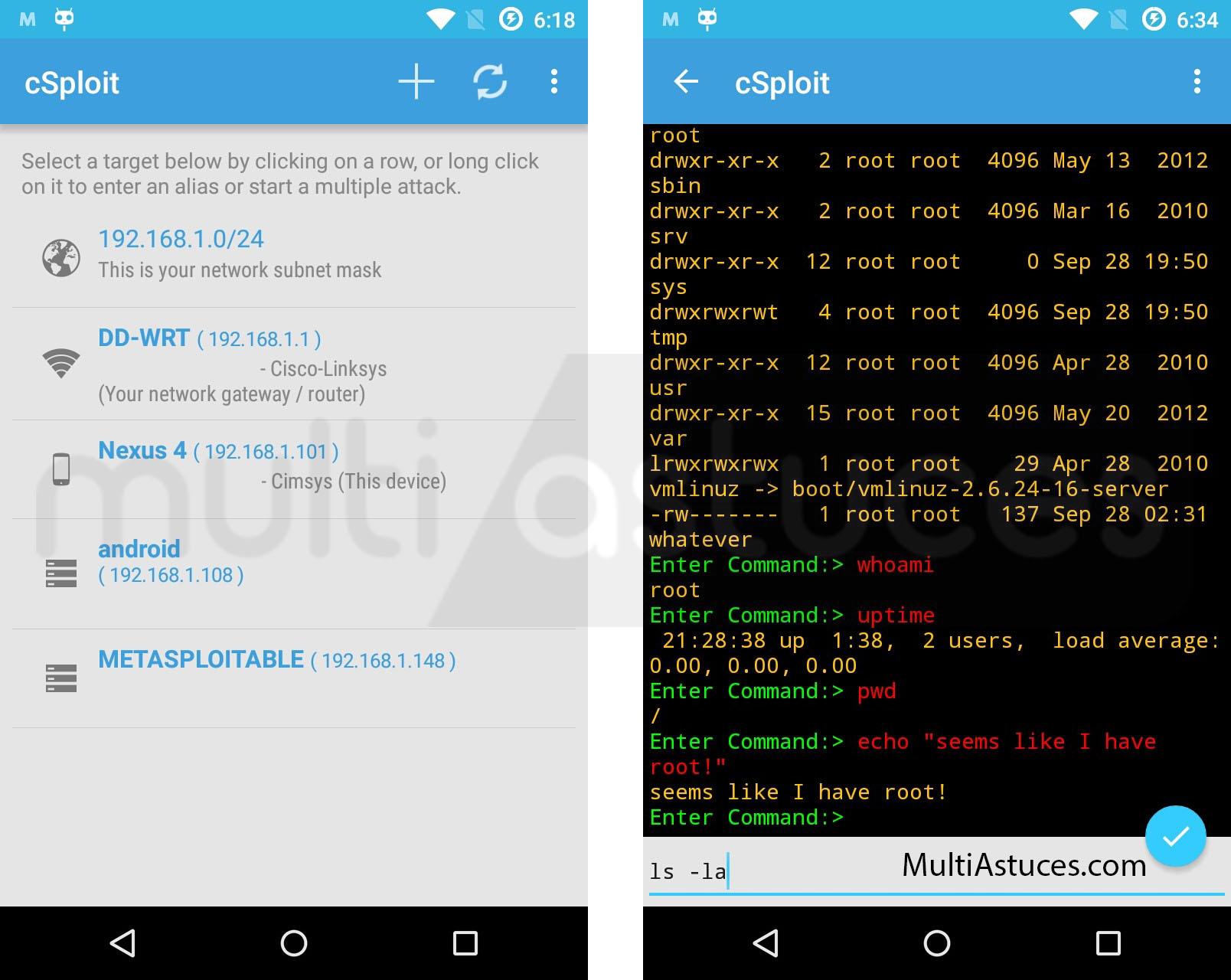 Meilleures applications de piratage Android