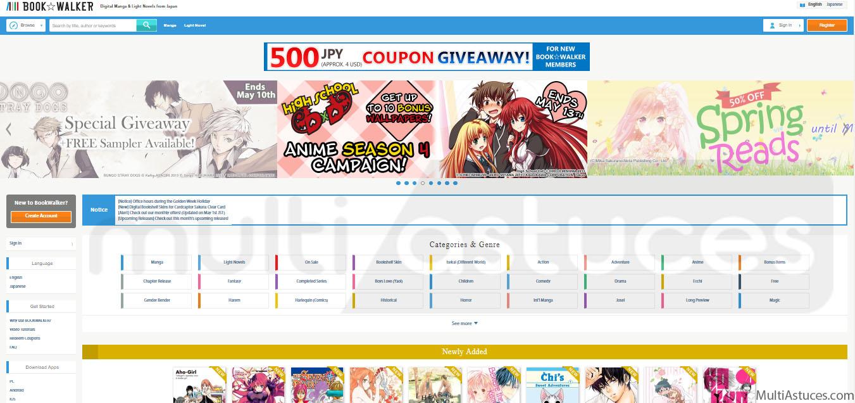 Meilleurs sites pour lire Manga
