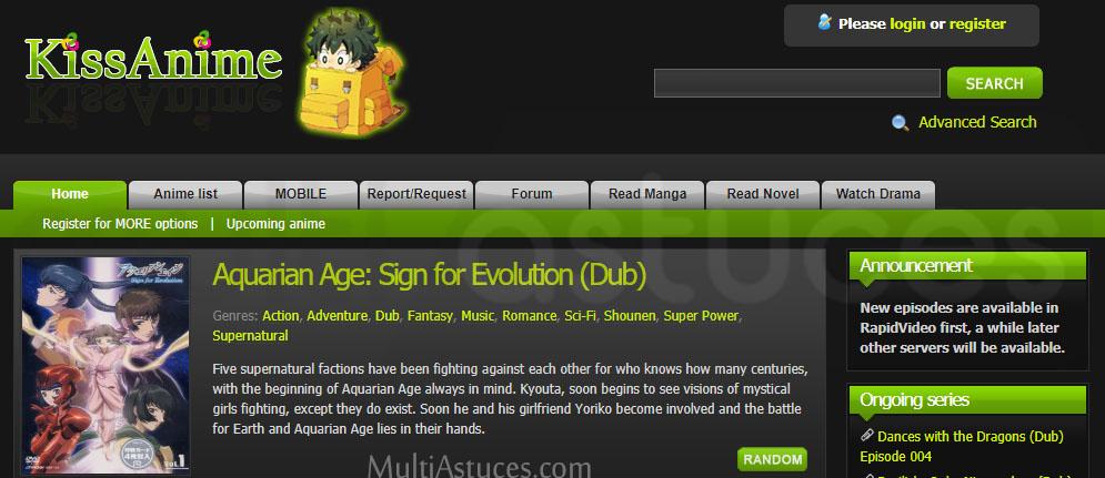 sites de streaming gratuit Anime