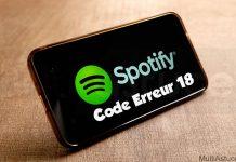 code d'erreur Spotify 18