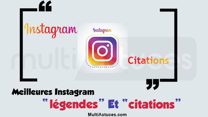 légendes et citations sur Instagram