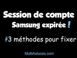 session de compte Samsung expirée