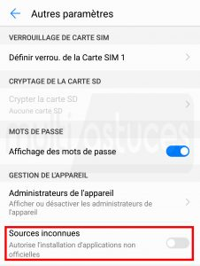 applications Android Pas sur Play Store