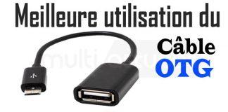 utilisation du câble OTG
