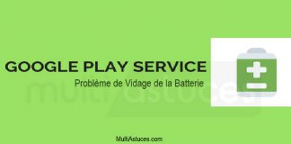 vidage de la batterie des services Google Play