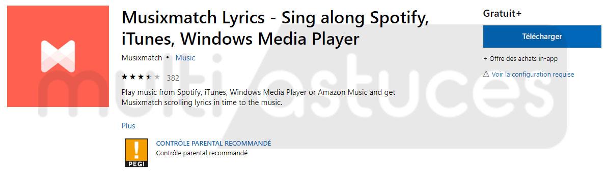les paroles de Spotify sur un ordinateur