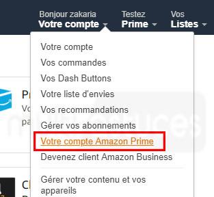 annuler l'adhésion à Amazon Prime
