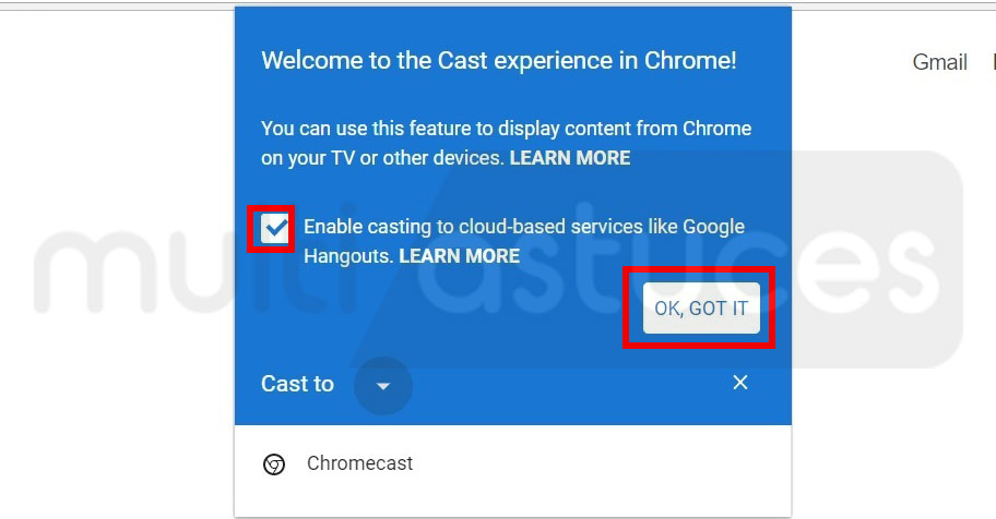 Chromecast pour Windows 10