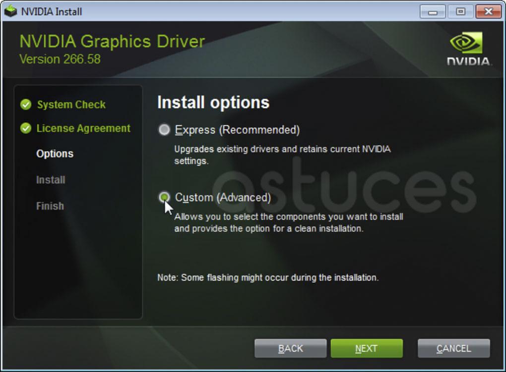 programme d'installation de Nvidia