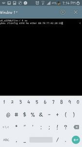 changer l'adresse Mac dans Android