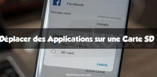 déplacer des applications sur une carte SD