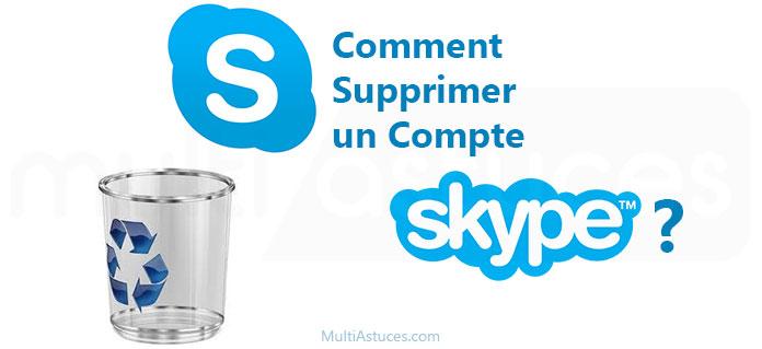 supprimer un compte Skype
