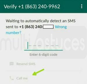 Whatsapp avec un numéro USA