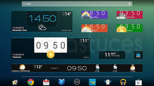 meilleurs widgets Android