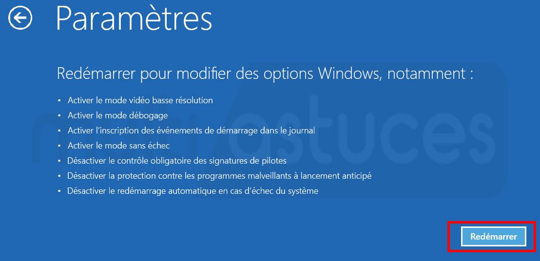 écran noir Windows 10