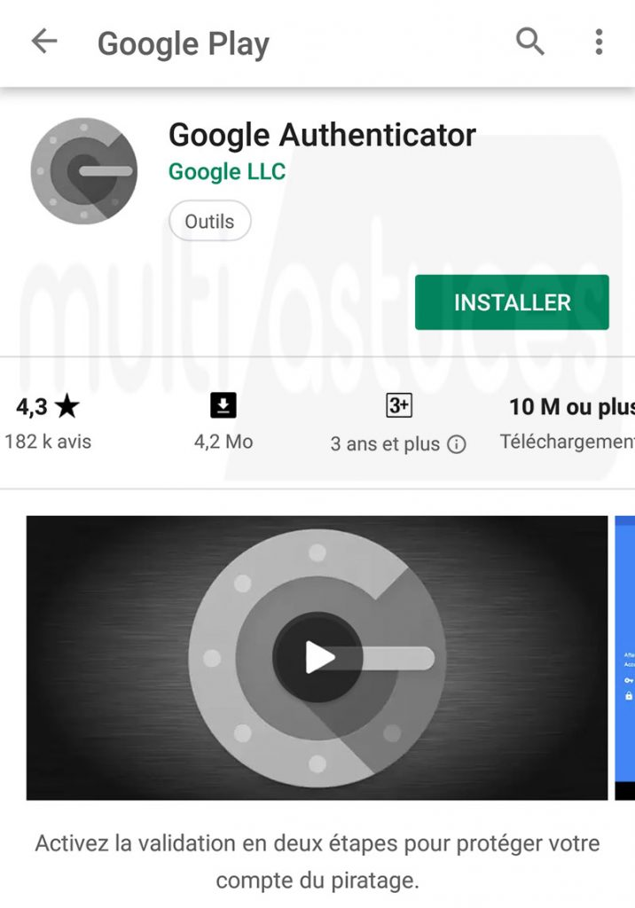 Transférer Google Authenticator