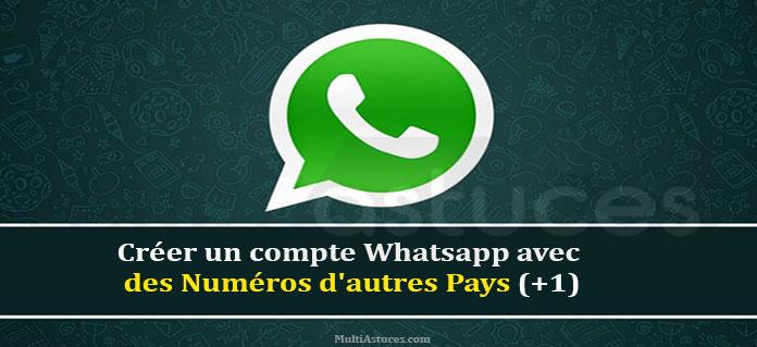 créer un compte Whatsapp avec un numéro USA