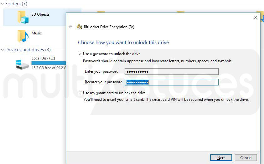 chiffrer facilement une clé USB