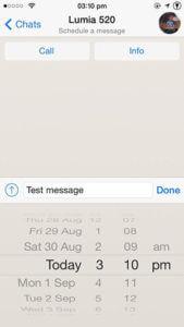 programmer un message Whatsapp