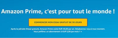 Amazon Prime gratuitement
