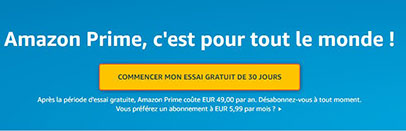 Amazon Prime gratuitement